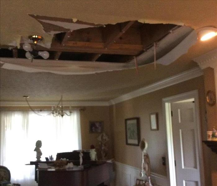 Water Damage to Hendersonville, TN home Before